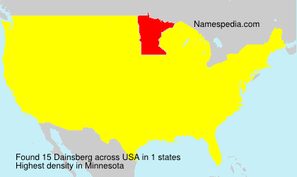 Surname Dainsberg in USA