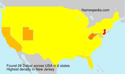 Surname Dalyai in USA