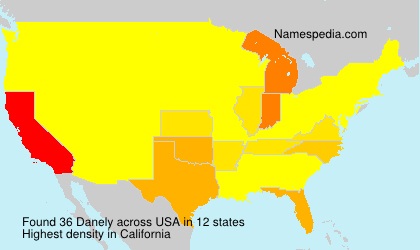 Surname Danely in USA