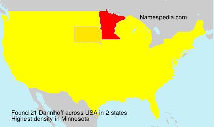 Surname Dannhoff in USA