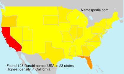 Familiennamen Darabi - USA