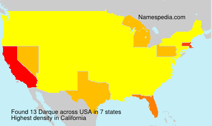 Surname Darque in USA