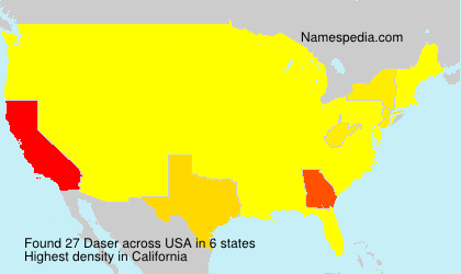 Surname Daser in USA