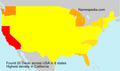 Surname Daulo in USA