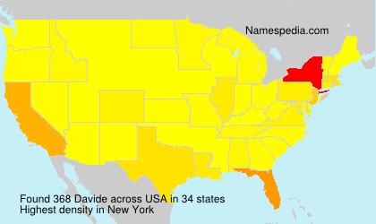 Surname Davide in USA