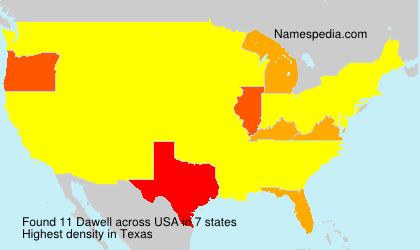 Surname Dawell in USA