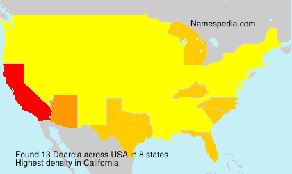 Surname Dearcia in USA