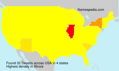 Surname Deastis in USA