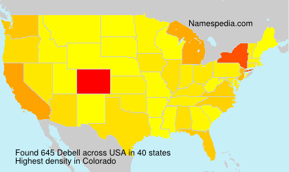 Surname Debell in USA