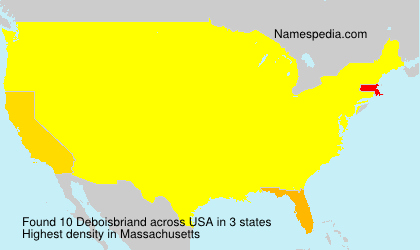 Surname Deboisbriand in USA
