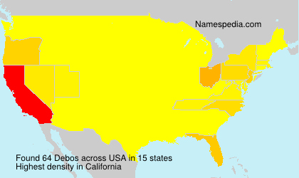 Surname Debos in USA