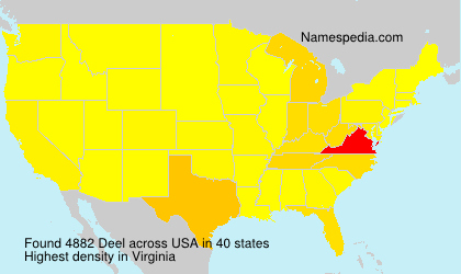 Surname Deel in USA
