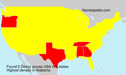 Surname Deezy in USA