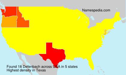Defenbach - USA