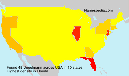 Surname Degelmann in USA