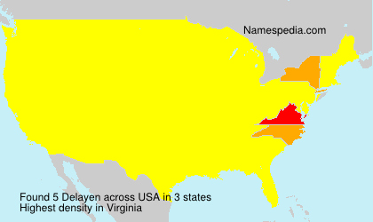 Surname Delayen in USA