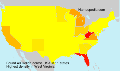 Surname Delida in USA