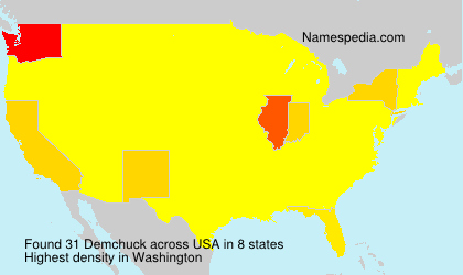 Surname Demchuck in USA