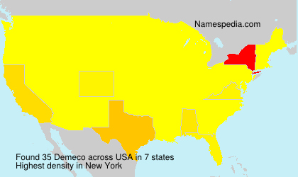 Surname Demeco in USA