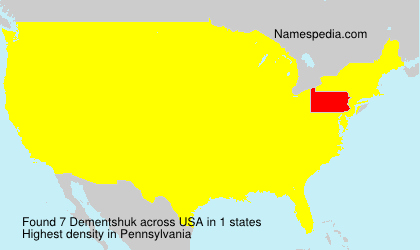Surname Dementshuk in USA