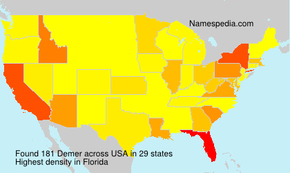 Surname Demer in USA