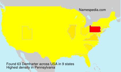 Surname Demharter in USA