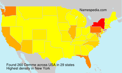 Surname Demme in USA
