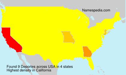 Familiennamen Deportes - USA