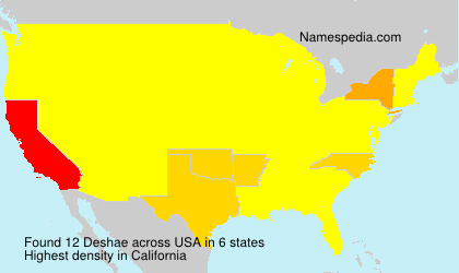 Surname Deshae in USA