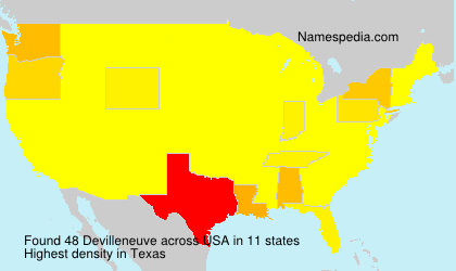Surname Devilleneuve in USA