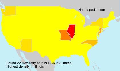 Familiennamen Devisetty - USA