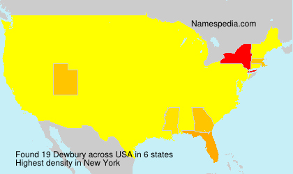Surname Dewbury in USA
