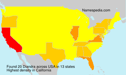 Surname Diandra in USA