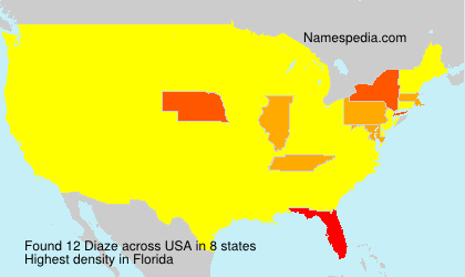 Surname Diaze in USA
