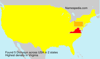 Surname Dichysyn in USA