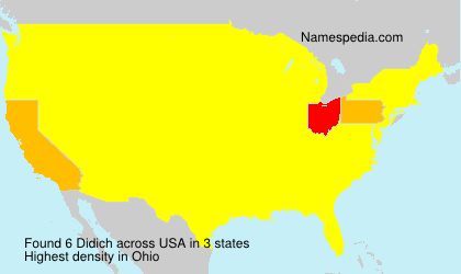 Surname Didich in USA