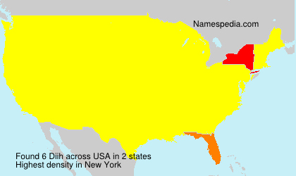 Surname Diih in USA