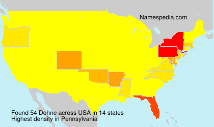 Surname Dohne in USA