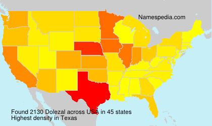 Surname Dolezal in USA