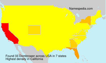 Surname Dombrower in USA