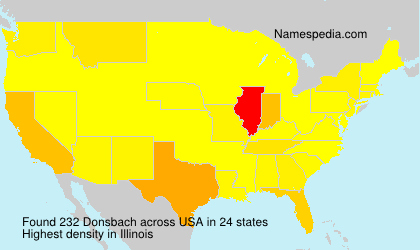 Surname Donsbach in USA