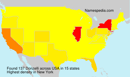 Surname Donzelli in USA