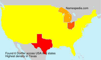 Surname Dorffer in USA