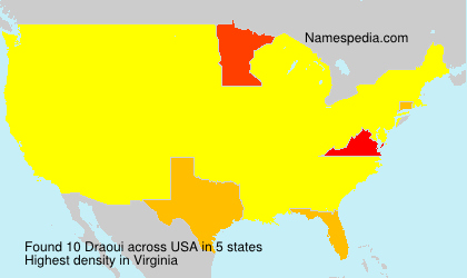 Surname Draoui in USA