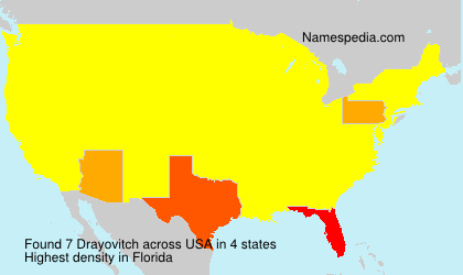 Surname Drayovitch in USA