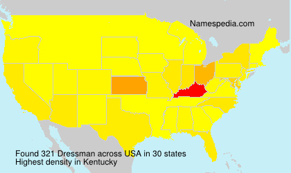 Surname Dressman in USA