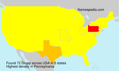 Surname Drupp in USA