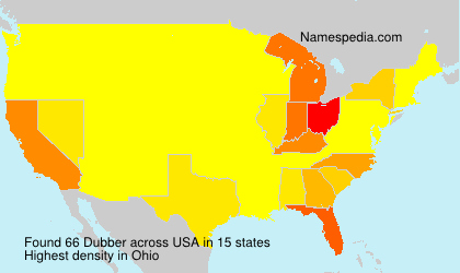 Surname Dubber in USA