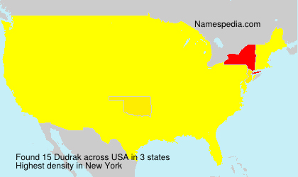 Surname Dudrak in USA