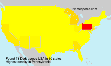 Surname Dudt in USA